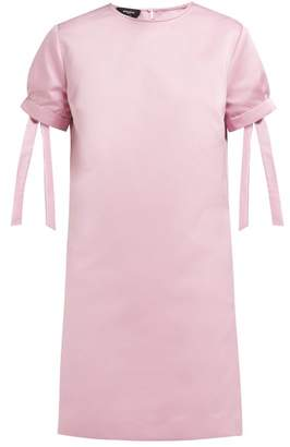 Rochas Tie Cuff Satin Mini Dress - Womens - Pink