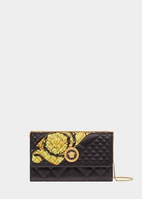 Versace Gold Hibiscus Quilted Evening Bag