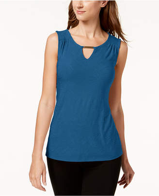 JM Collection Petite Keyhole Top, Created for Macy's