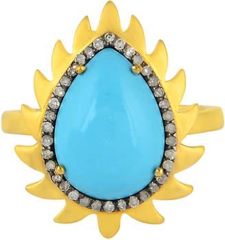 Meghna Jewels 18k Gold & Diamond Flame Ring