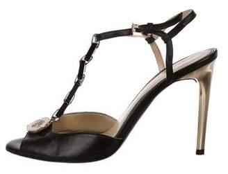 Versace Leather Medusa Sandals