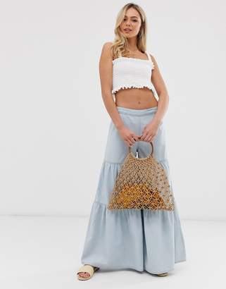 We The Free By Free People by Free People tiered wide leg jean