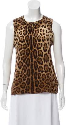 c8d9accfd1eb4d Pre-Owned at TheRealReal · Dolce   Gabbana Animal Print Silk Blouse