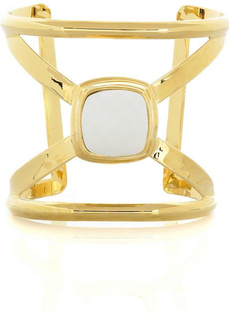 Kara Ross Kara by Gold plated X cuff