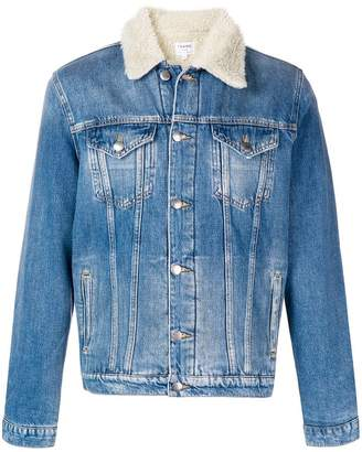 Frame shearling lined denim jacket