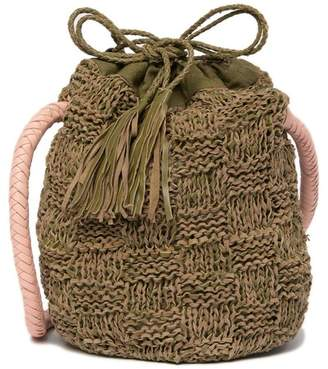 Sophie Anderson Adia Leather Knitted Bucket Bag