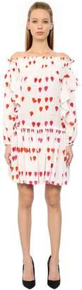 Alexander McQueen Petals Printed Silk Crepe De Chine Dress