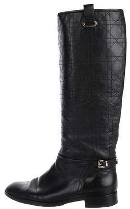 Christian Dior Cannage Leather Boots
