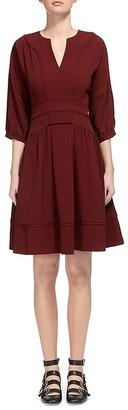 Whistles Eliza Pom Pom Trim Dress $320 thestylecure.com