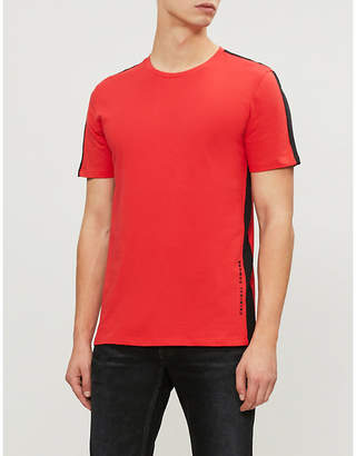 Criminal Damage Carnaby side-stripe cotton-jersey T-shirt