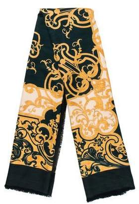 Mark Cross Silk & Wool Printed Scarf