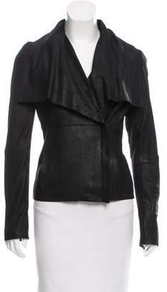 Scoop Leather Zip-Up Jacket