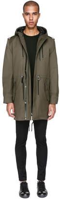 Mackage ARAV Hooded water-resistant 2-in-1 twill trench coat