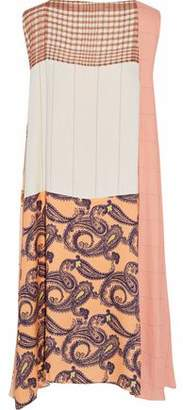 Acne Studios Printed Patchwork Gauze And Twill Dress