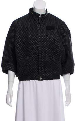 G Star Quilted Zip-Up Jacket