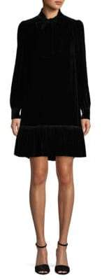 Kate Spade Velvet Tie Front Shift Dress