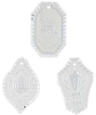 Waterford Set of 3 Crystal Christmas Ornaments
