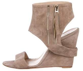 c543755eda9 Hotel Particulier Suede Ankle-Strap Wedges