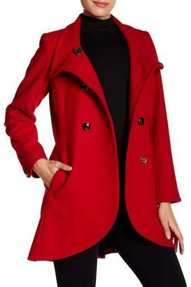 CeCe by Cynthia Steffe Gianna Double Breasted Wool Blend Coat $280 thestylecure.com