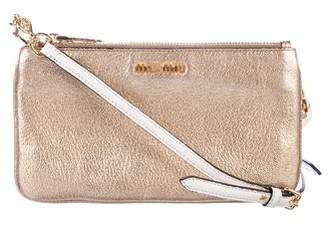 Miu Miu Metallic Madras Crossbody Bag