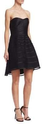 Halston Strapless Fit-&-Flare Dress