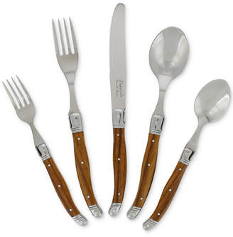 French Home Laguiole 20-Pc. Faux Wood Grain Flatware Set, Service for 4