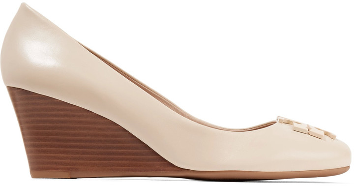 Tory BurchTory Burch Lowell leather wedge pumps