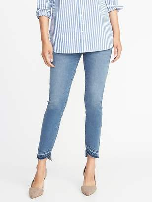 Old Navy Pull-On Rockstar Asymmetric Step-Hem Jeggings for Women