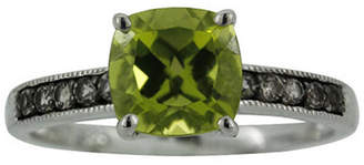 JCPenney FINE JEWELRY Sterling Silver Peridot and Smoky Quartz Ring