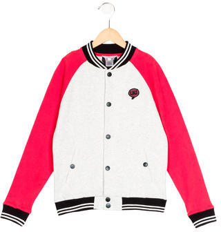 Little Marc Jacobs Little Marc Jacobs Boys' Logo Bomber Jacket