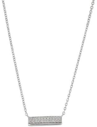 Bony Levy 18K White Gold Diamond Accent Bar Pendant Necklace - 0.09 ctw