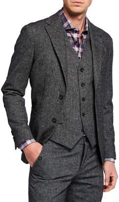 Joe's Jeans Men's Slim-Fit Donegal Tweed Sport Jacket, Gray