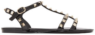 Valentino Black Garavani Rockstud Summer Cage Sandals
