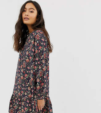 People Tree x V&A high neck smock dress in floral print