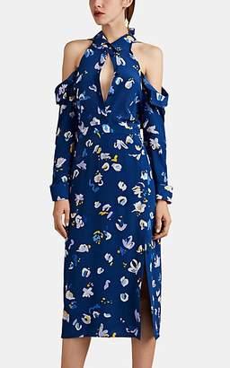 Altuzarra Women's Chiara Floral-Print Silk Off-The-Shoulder Shirtdress - Dusk
