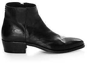 John Varvatos Men's COLLECTION Ludlow Leather Zip Ankle Boots