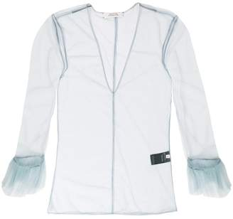Schumacher Dorothee sheer fluted sleeve top