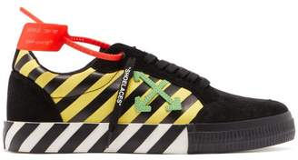 Off-White Off White Vulcanised Suede Trainers - Mens - Black Multi