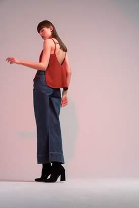 Genuine People Side Zippers Wide Leg Jeans