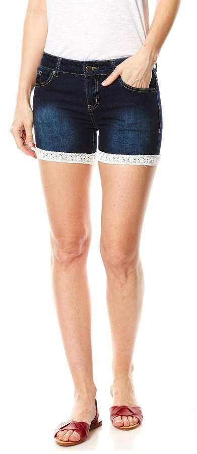 Short - jeansblau