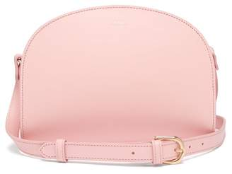 A.P.C. Half Moon Leather Cross Body Bag - Womens - Light Pink