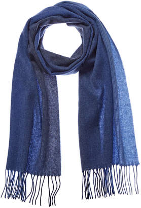 Qi Navy Ombre Cashmere Scarf