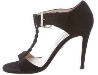 Diane von Furstenberg Suede T-Strap Sandals