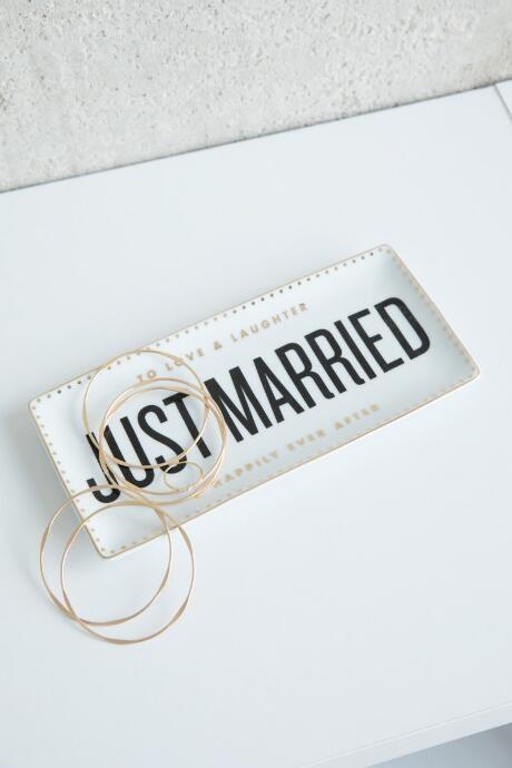 Rosanna Imports, Inc. Just Married Tray