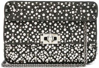 Valentino Small Embellished Spike It Shoulder Bag