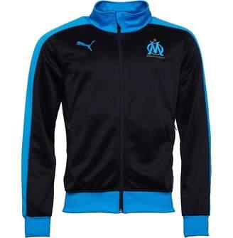 Mens Olympique Marseille Fan T7 Track Jacket Black