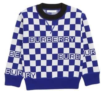 Burberry Paul Check Merino Wool Sweater