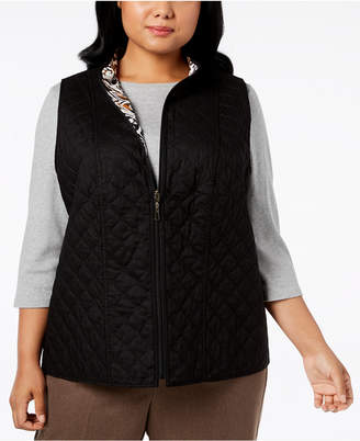 Alfred Dunner Plus Size Cotton Reversible Vest