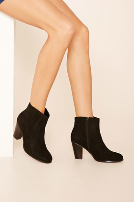 FOREVER 21+ Faux Suede Ankle Booties $29.90 thestylecure.com