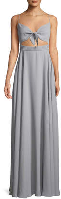 Fame & Partners The Miles Cutout Sleeveless Long Dress